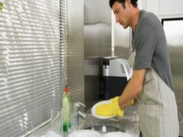 غسل الصحون والرجال!